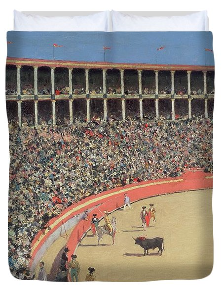 The Bullfight Duvet Cover by Ramon Casas i Carbo
