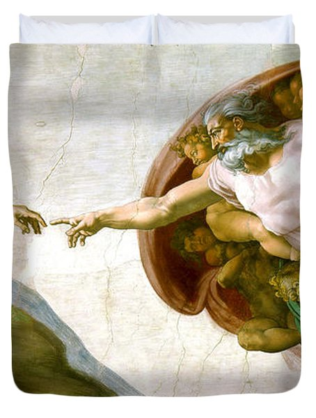 The Creation Of Adam Duvet Cover