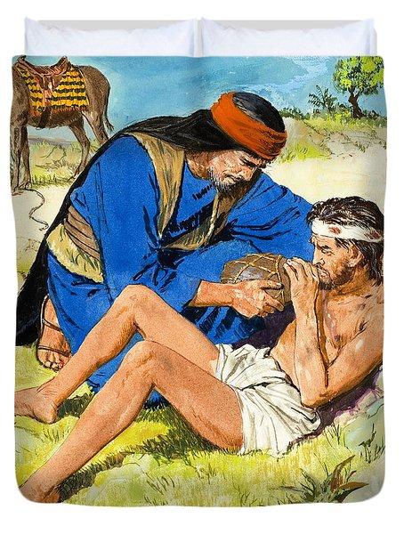 The Good Samaritan  Duvet Cover by Clive Uptton