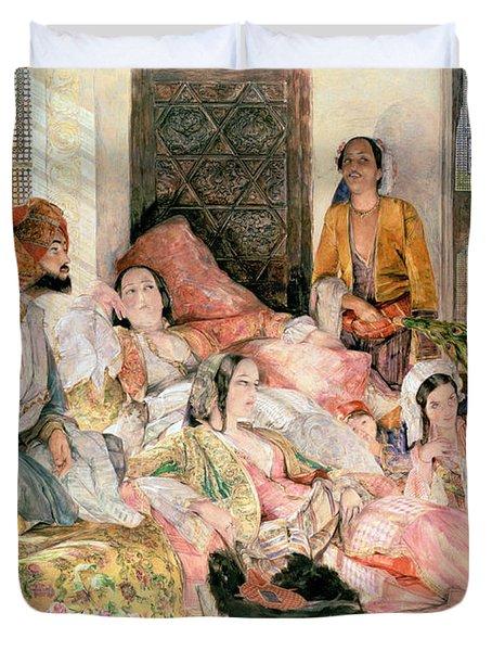 The Harem Duvet Cover by John Frederick Lewis