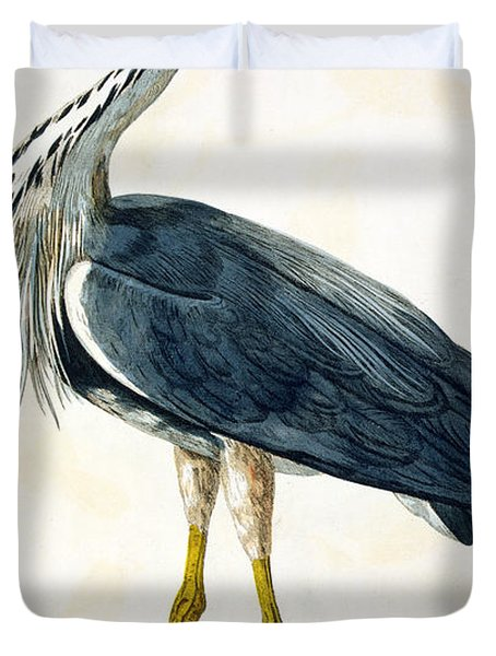The Heron  Duvet Cover