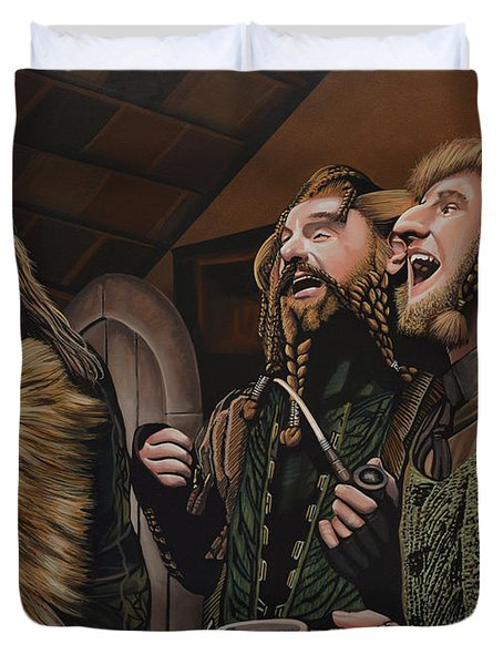 The Hobbit And The Dwarves Duvet Cover