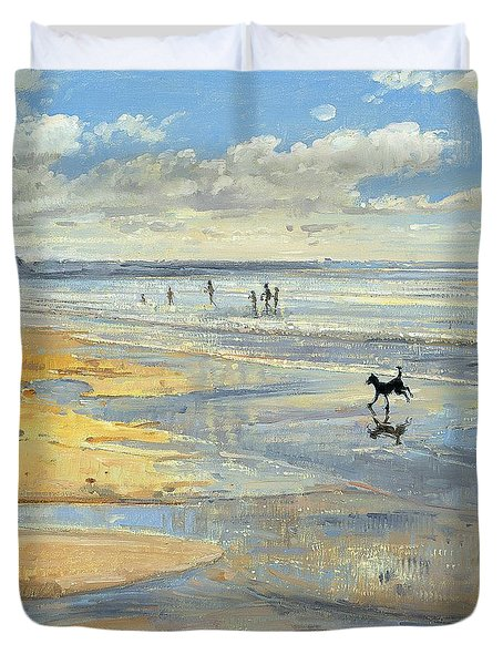 The Little Acrobat  Duvet Cover by Timothy  Easton