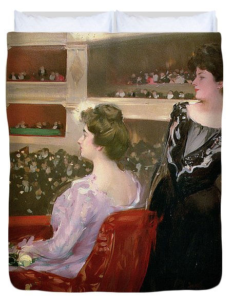 The Lyceum Duvet Cover by Ramon Casas i Carbo