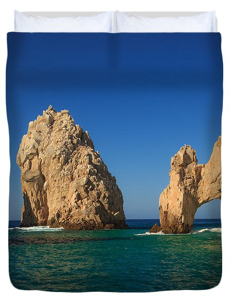 The Sea Arch El Arco De Cabo San Lucas Duvet Cover