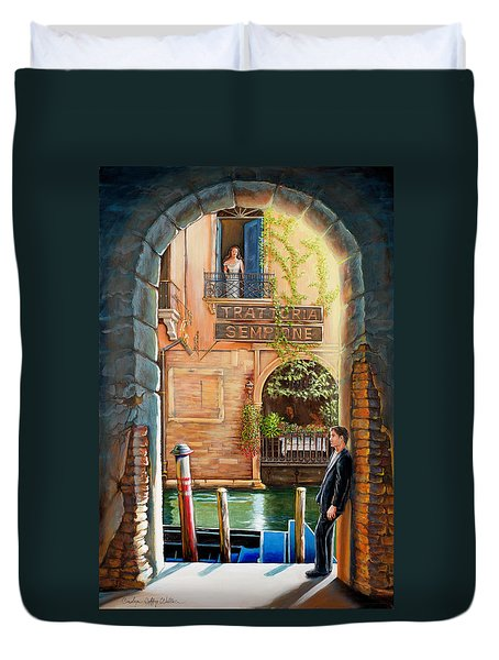 Thinking Of You Trattoria Sempione San Marco 578 Venezia Duvet Cover