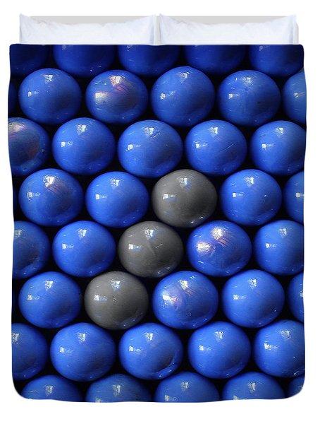 Three  Balls Line Duvet Cover by Danuta Bennett