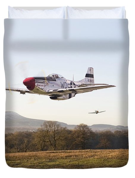 Through The Gap Duvet Cover by Pat Speirs