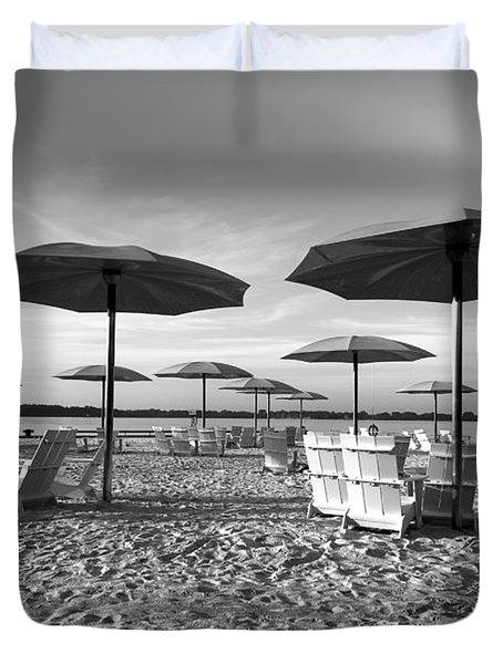 Umbrellas On The Beach Duvet Cover