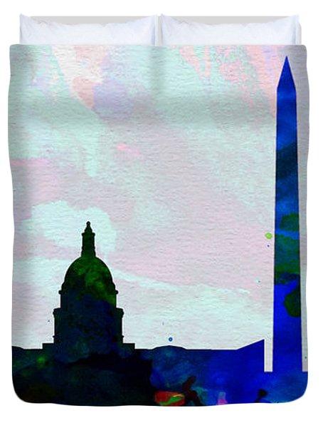 Washington Dc City Skyline 2 Duvet Cover