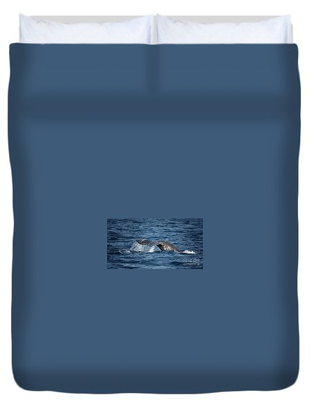 Whale Fluke In Dana Point Duvet Cover
