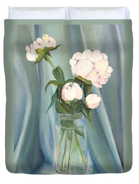 White Flower Purity Duvet Cover