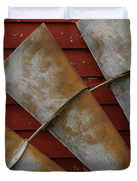 Windfan Leaning Duvet Cover by Randy Pollard