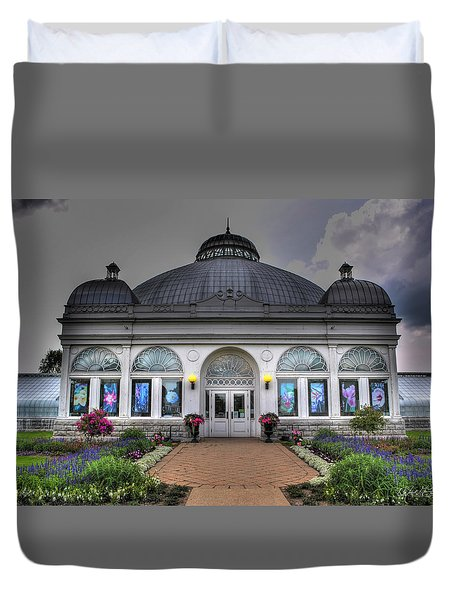 001 Buffal And Erie County Botanical Gardens Duvet Cover by Michael Frank Jr