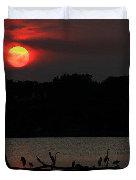0016 White Rock Lake Dallas Texas Duvet Cover