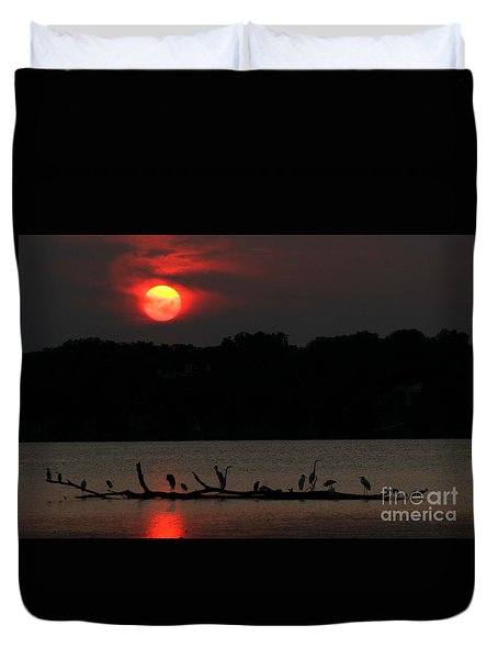 0016 White Rock Lake Dallas Texas Duvet Cover