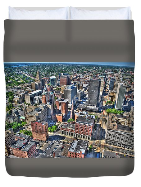 0017 Visual Highs Of The Queen City Duvet Cover by Michael Frank Jr