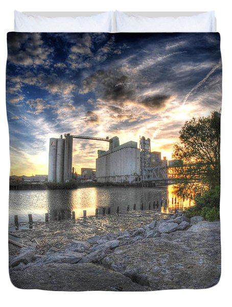 003 General Mills At Sunset Duvet Cover by Michael Frank Jr
