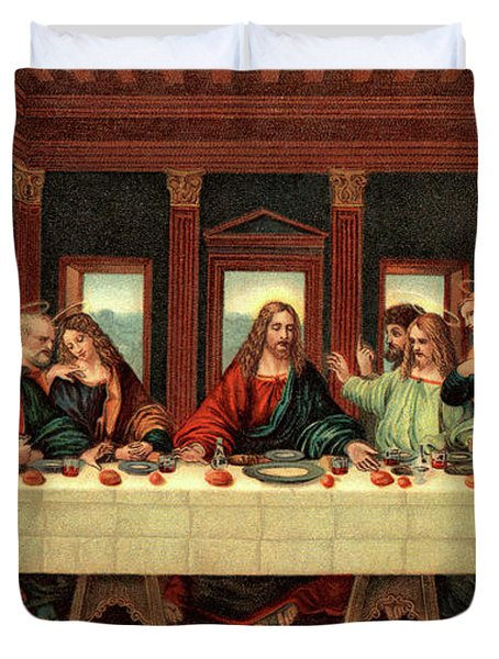 0030s The Last Supper After Leonardo Da Duvet Cover