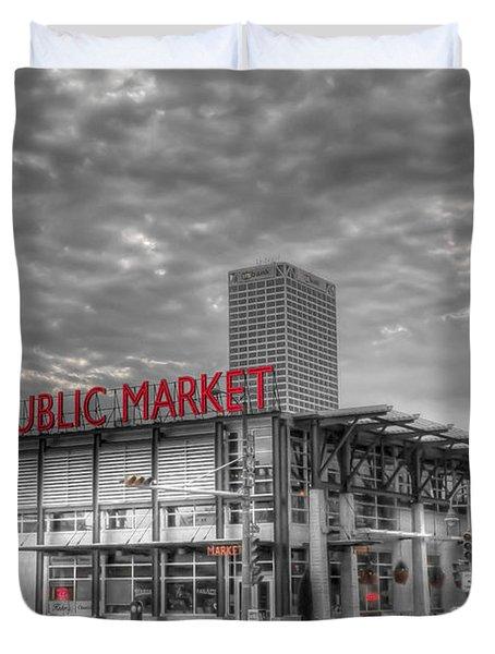 0038 Milwaukee Public Market Duvet Cover