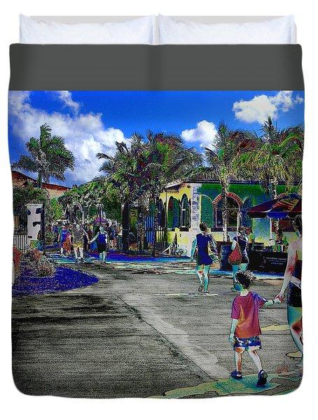 St Croix Stencil  Duvet Cover