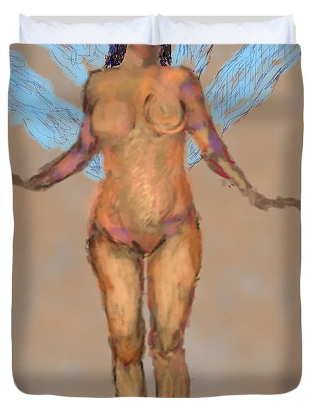 010715 Pastel Digital Fairy Duvet Cover