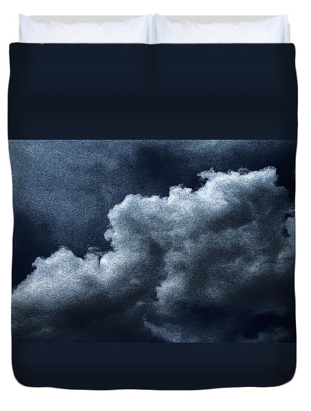 02152015 Water Color Storm Brewing Duvet Cover by Garland Oldham