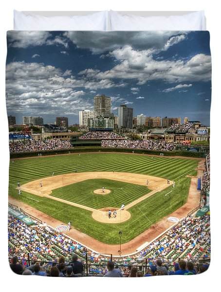 0234 Wrigley Field Duvet Cover