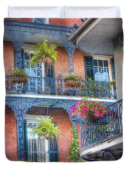 0255 Balconies - New Orleans Duvet Cover by Steve Sturgill