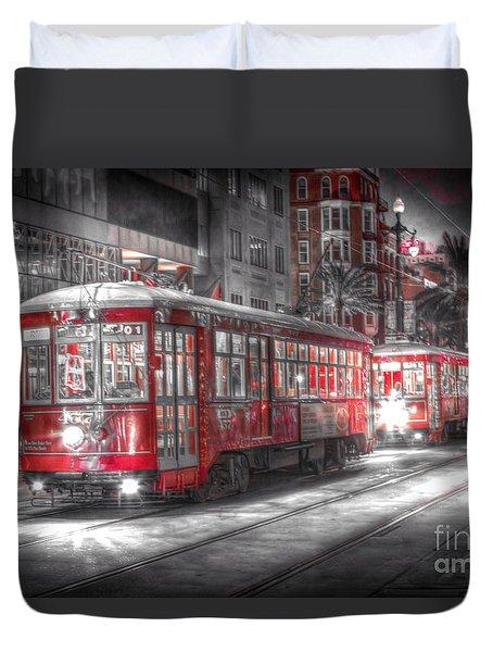 0271 New Orleans Street Car Duvet Cover