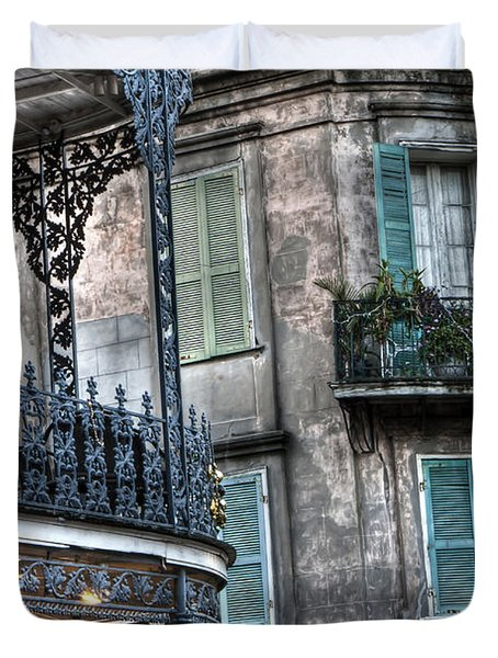 0275 New Orleans Balconies Duvet Cover