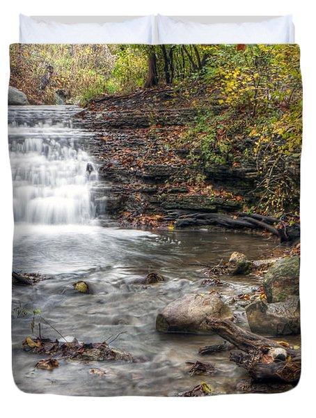 0278 South Elgin Waterfall Duvet Cover