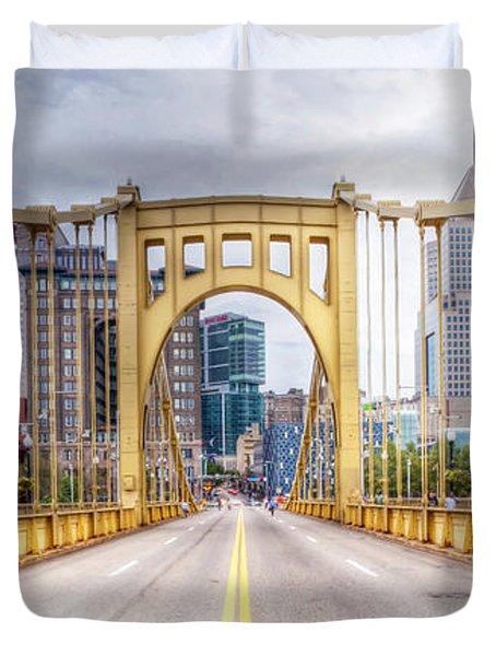 0305  Pittsburgh 10 Duvet Cover by Steve Sturgill