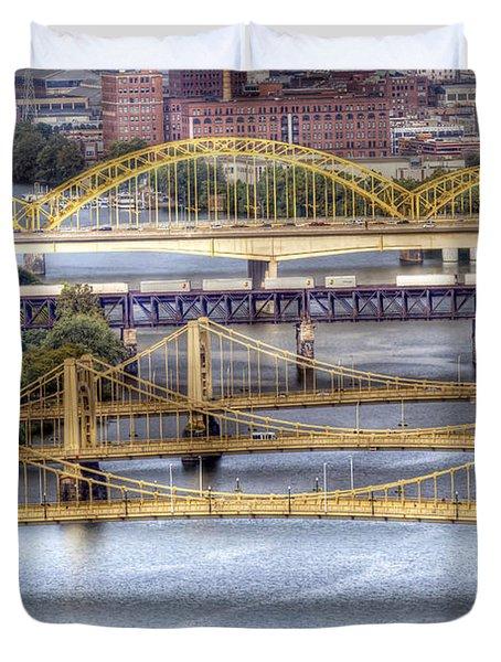 0307 Pittsburgh 8 Duvet Cover by Steve Sturgill