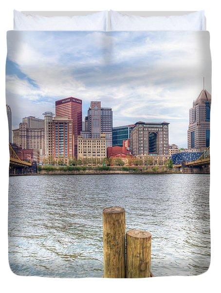 0310 Pittsburgh 3 Duvet Cover by Steve Sturgill