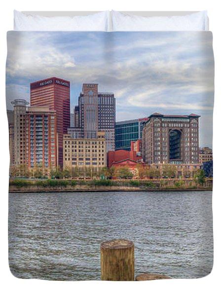 0311 Pittsburgh 1 Duvet Cover by Steve Sturgill