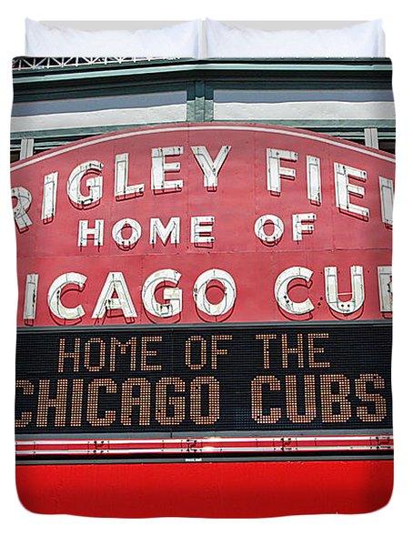0334 Wrigley Field Duvet Cover by Steve Sturgill