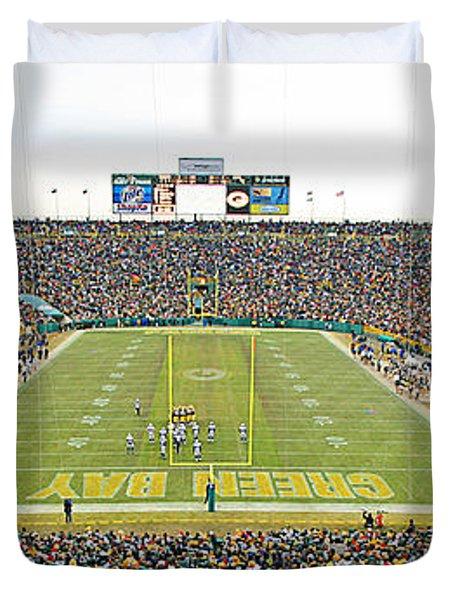 0349 Lambeau Field Panoramic Duvet Cover by Steve Sturgill