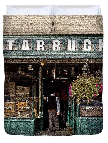 0370 First Starbucks Duvet Cover by Steve Sturgill