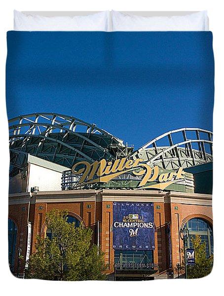 0386 Miller Park Milwaukee Duvet Cover