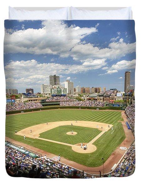 0415 Wrigley Field Chicago Duvet Cover by Steve Sturgill