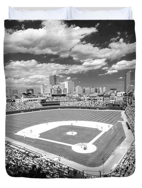 0416 Wrigley Field Chicago Duvet Cover by Steve Sturgill