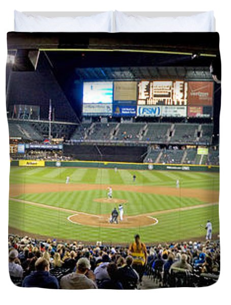 0434 Safeco Field Panoramic Duvet Cover