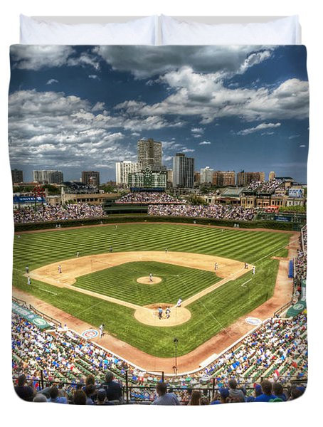 0443 Wrigley Field Chicago  Duvet Cover by Steve Sturgill