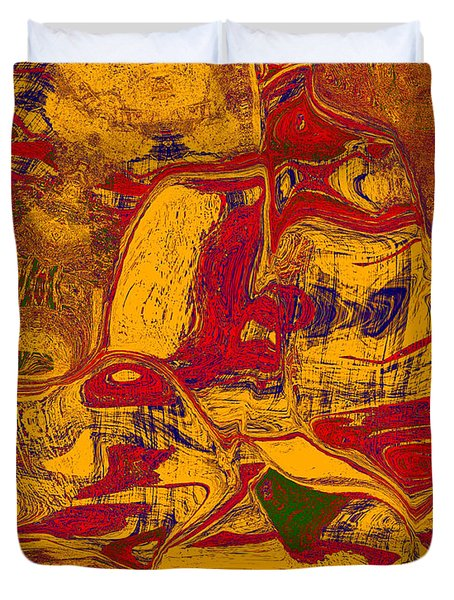 0518 Abstract Thought Duvet Cover by Chowdary V Arikatla