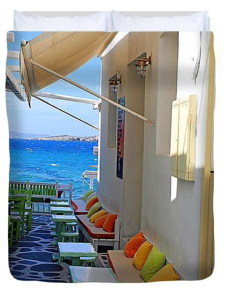 0560 Mykonos Greece Duvet Cover