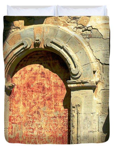 0584 San Juan Capistrano Mission Duvet Cover