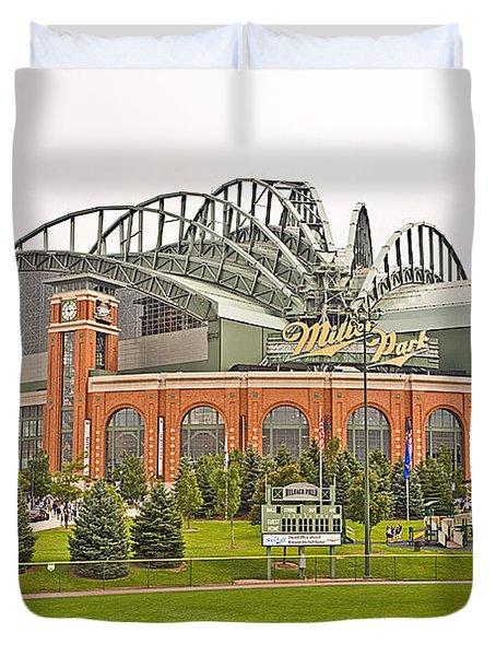 0622 Milwaukee's Miller Park Duvet Cover by Steve Sturgill