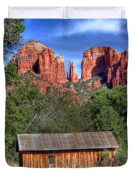 0682 Red Rock Crossing - Sedona Arizona Duvet Cover
