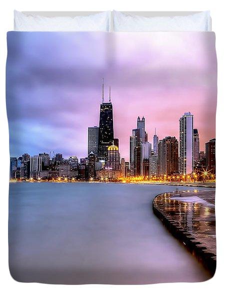 0865 Chicago Sunrise Duvet Cover